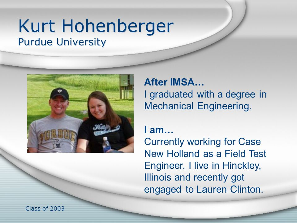 Kurt Hohenberger Purdue University