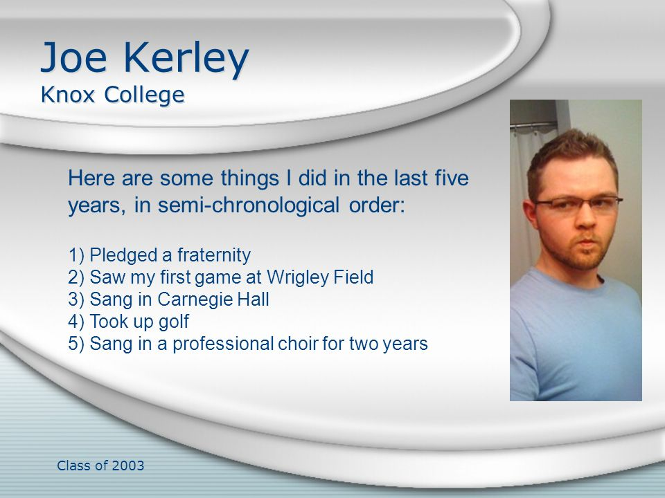 Joe Kerley Knox College