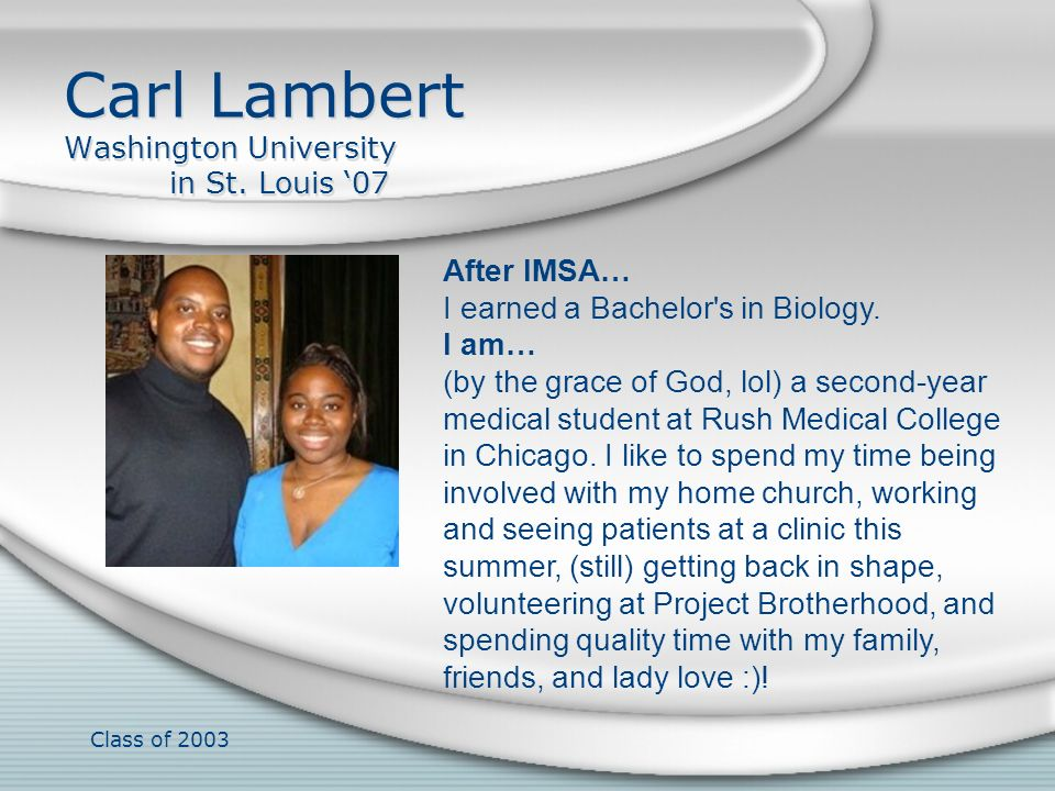 Carl Lambert Washington University in St. Louis '07