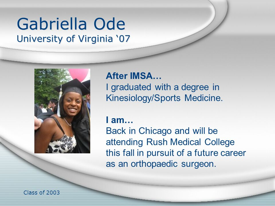 Gabriella Ode University of Virginia '07
