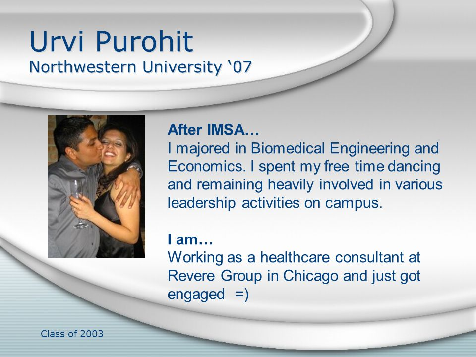 Urvi Purohit Northwestern University '07