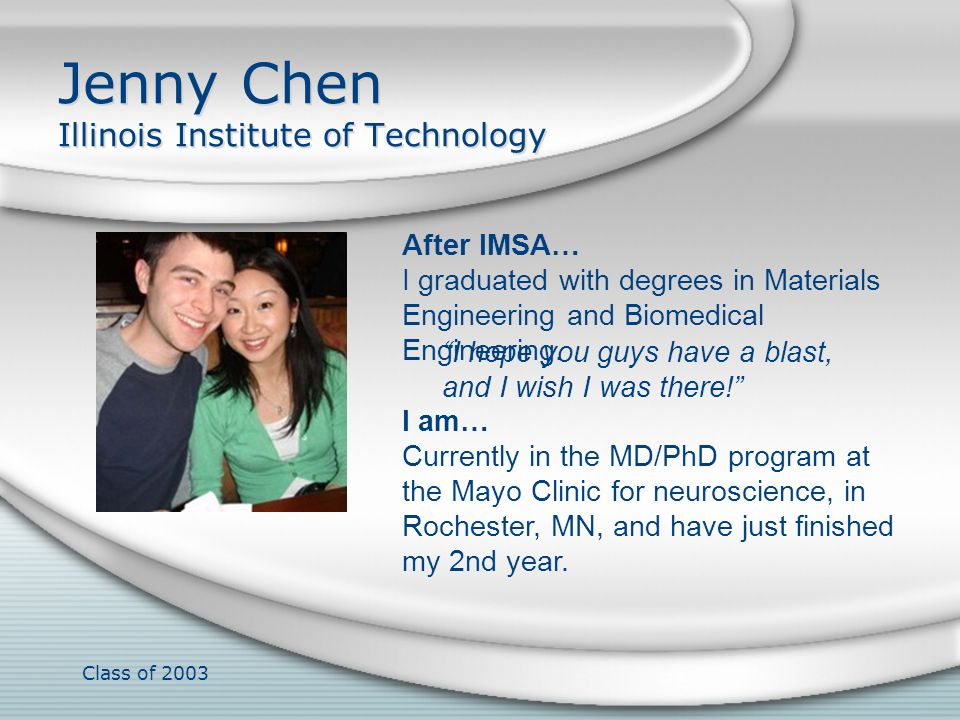 Jenny Chen Illinois Institute of Technology