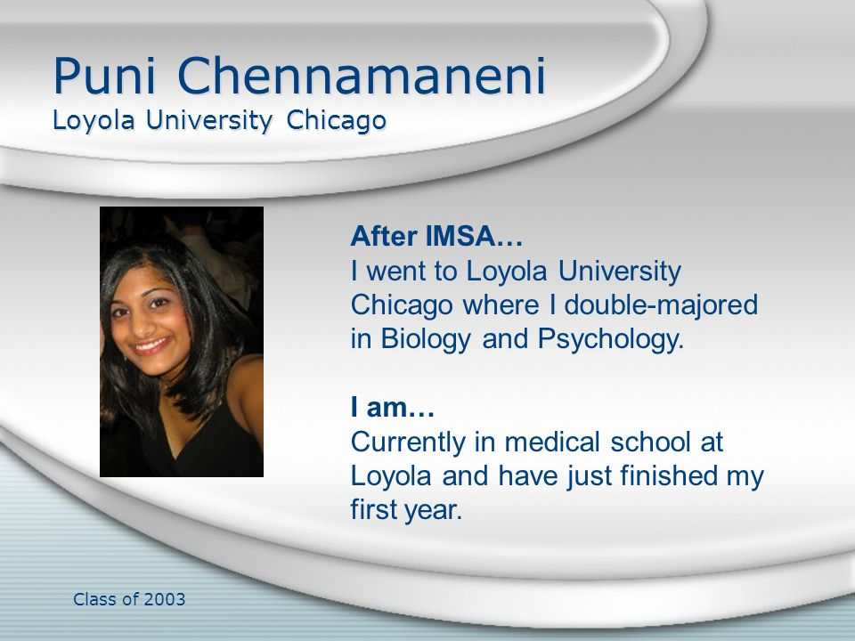Puni Chennamaneni Loyola University Chicago