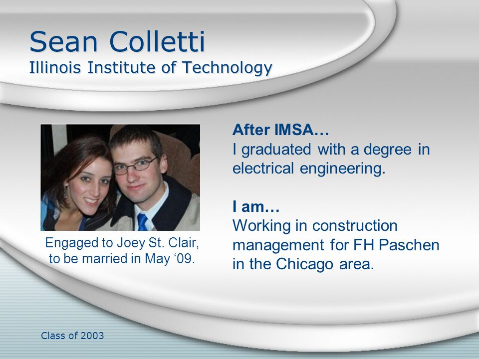 Sean Colletti Illinois Institute of Technology