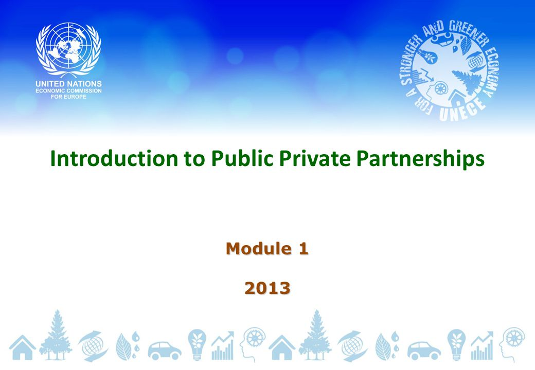 Introduction to Public Private Partnerships