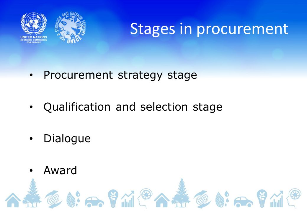 Stages in procurement Procurement strategy stage