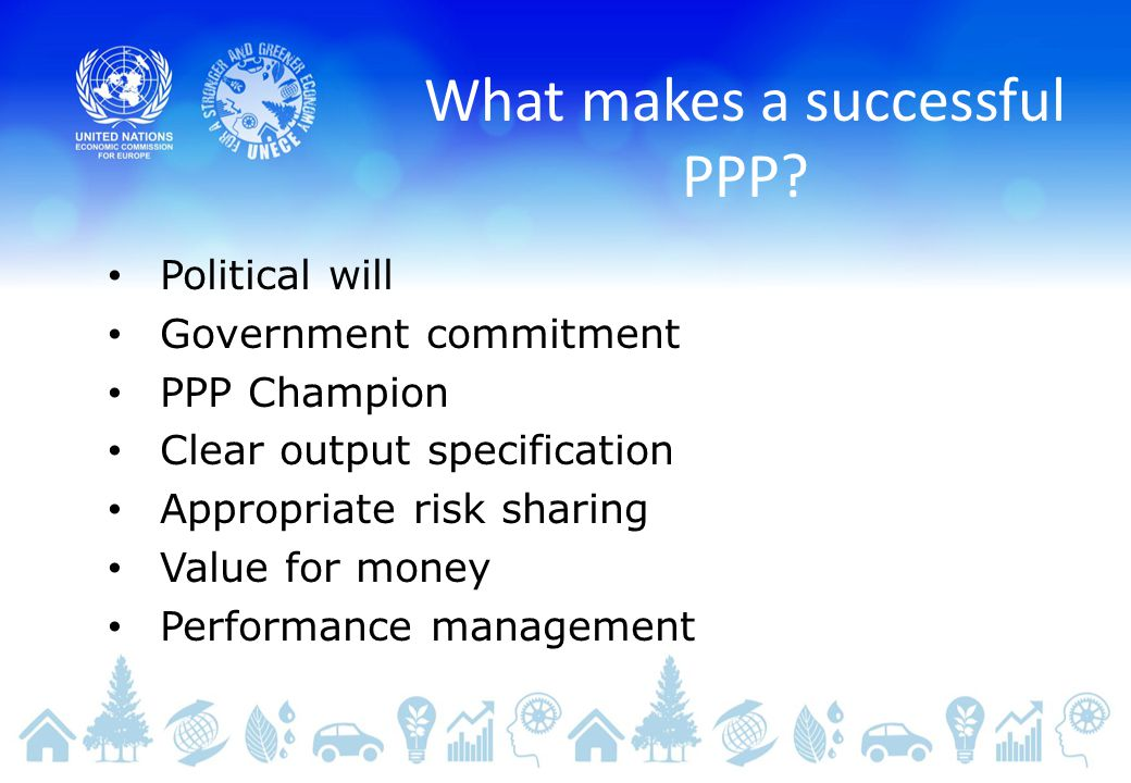 What makes a successful PPP