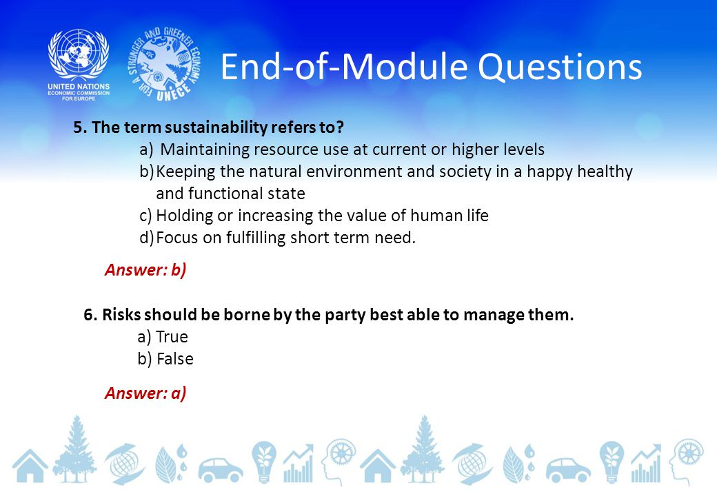 End-of-Module Questions