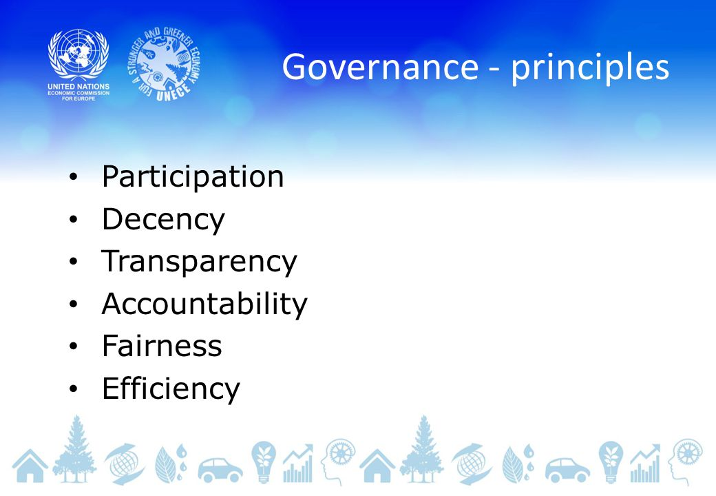 Governance - principles