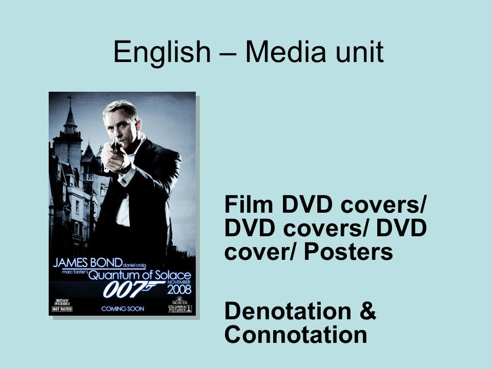 English – Media unit Film DVD covers/ DVD covers/ DVD cover/ Posters