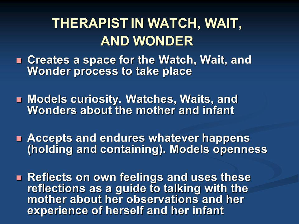 THERAPIST IN WATCH, WAIT, AND WONDER