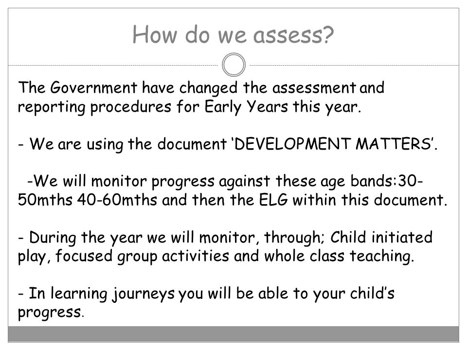 How do we assess