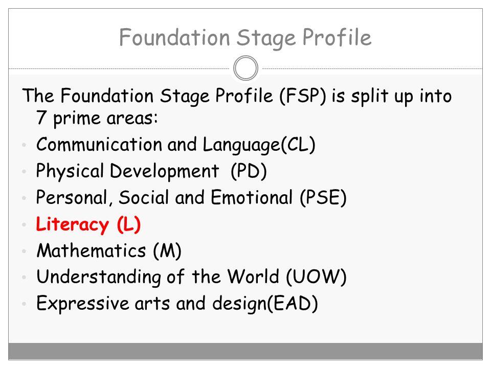 Foundation Stage Profile