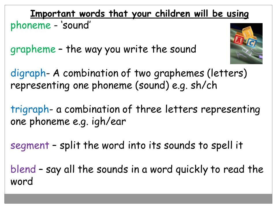 Important words that your children will be using