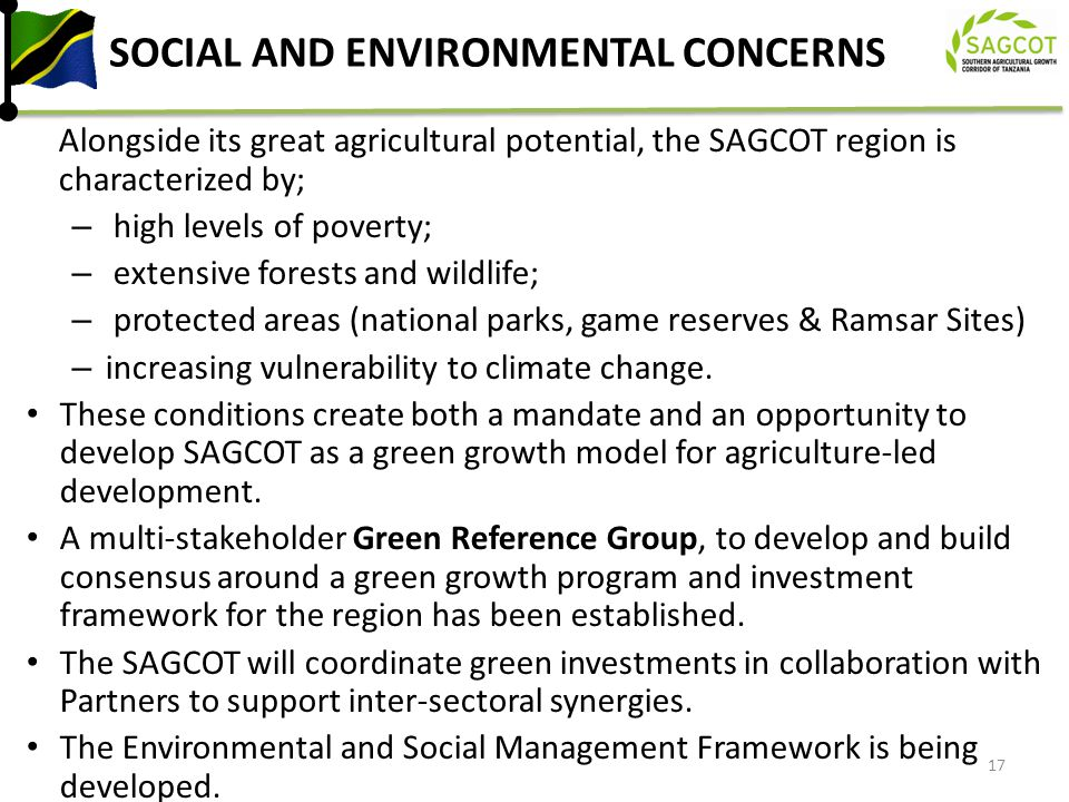 SOCIAL AND ENVIRONMENTAL CONCERNS