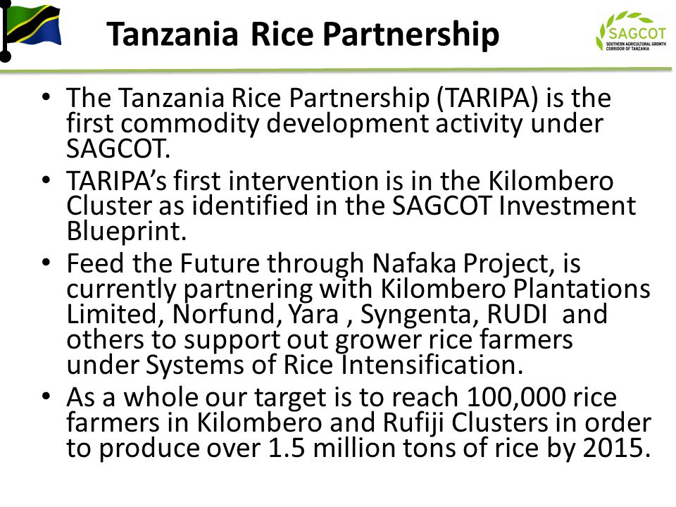Tanzania Rice Partnership
