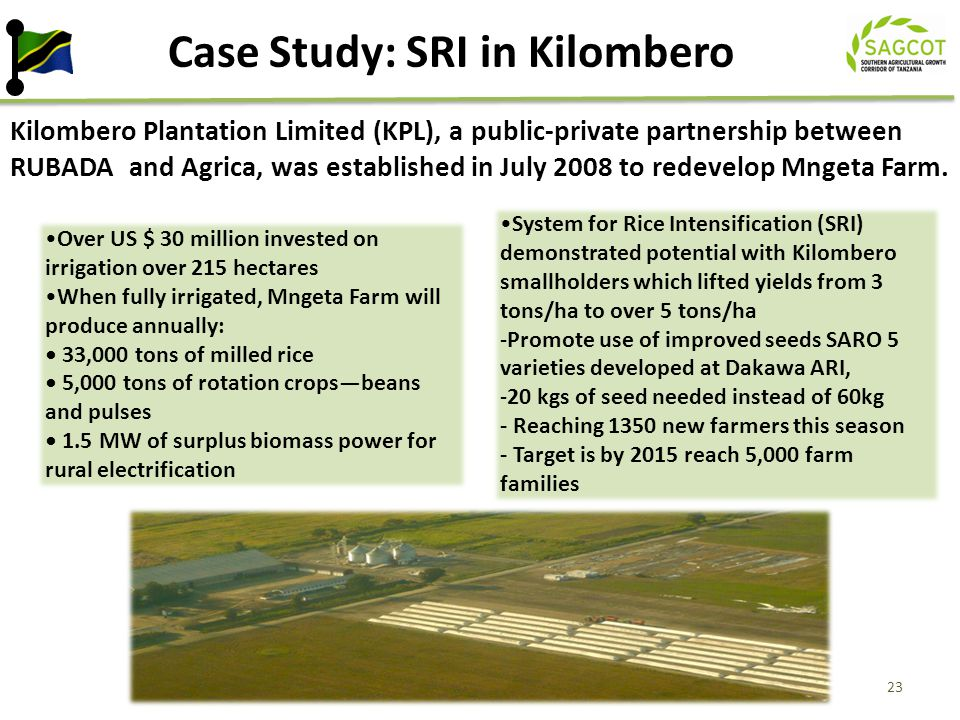 Case Study: SRI in Kilombero