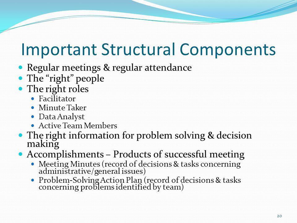 Important Structural Components