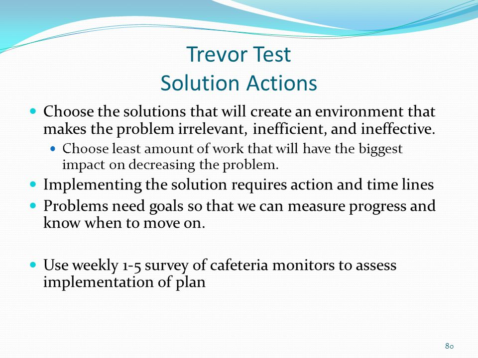 Trevor Test Solution Actions