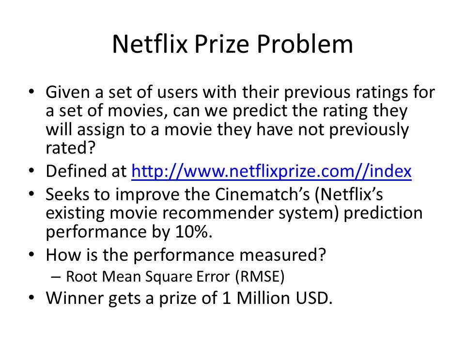 Netflix Prize Problem