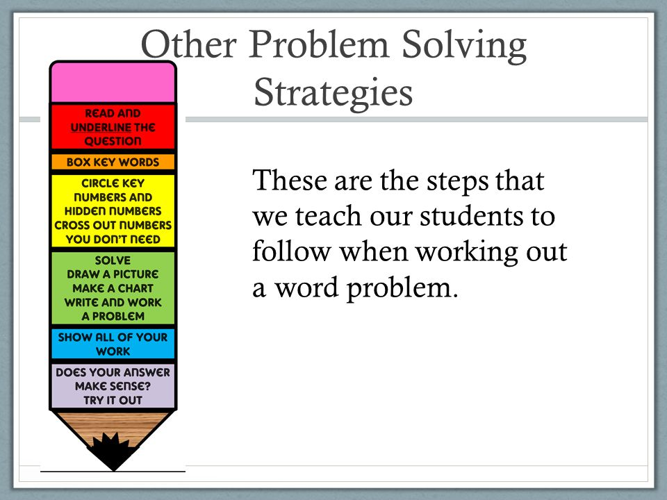 Other Problem Solving Strategies