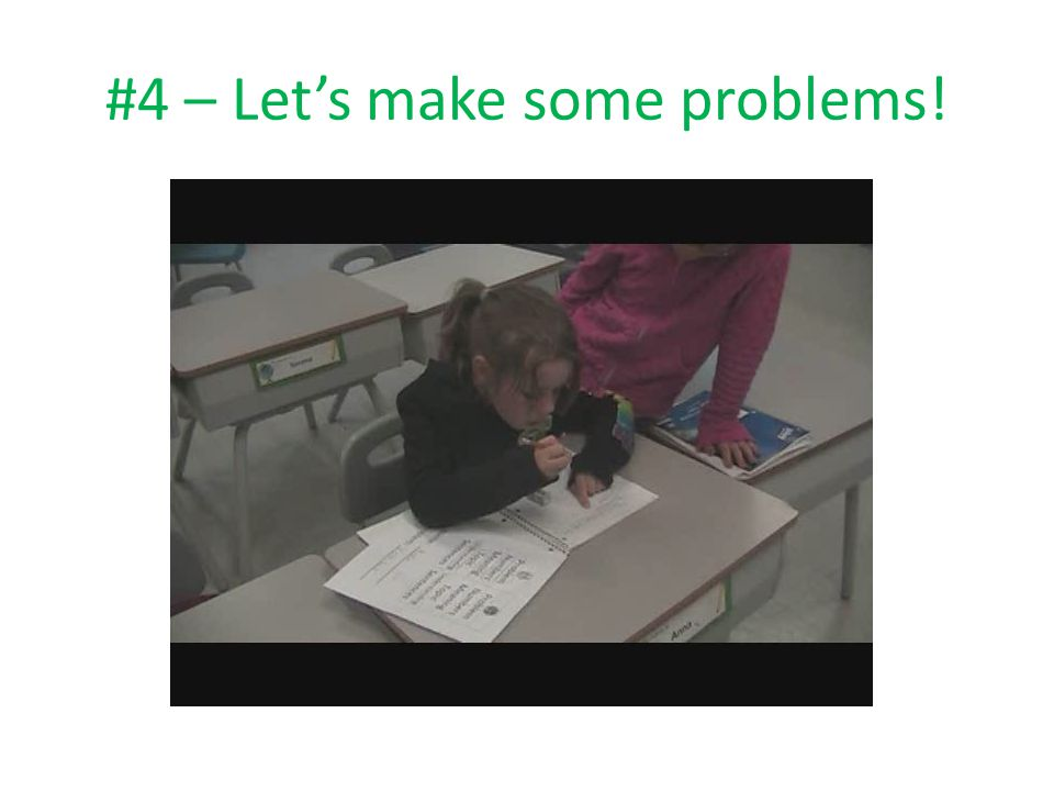#4 – Let's make some problems!