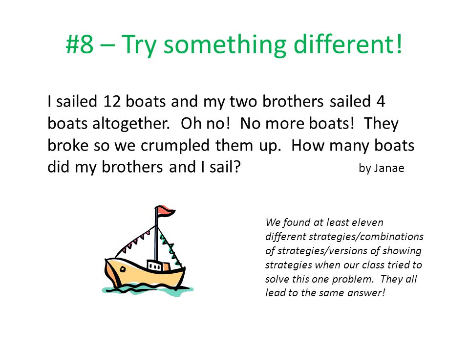 #8 – Try something different!
