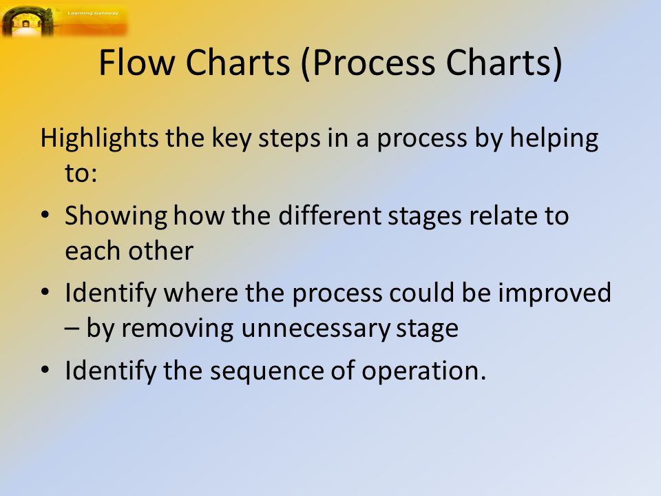 Flow Charts (Process Charts)