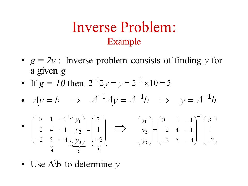 Inverse Problem: Example