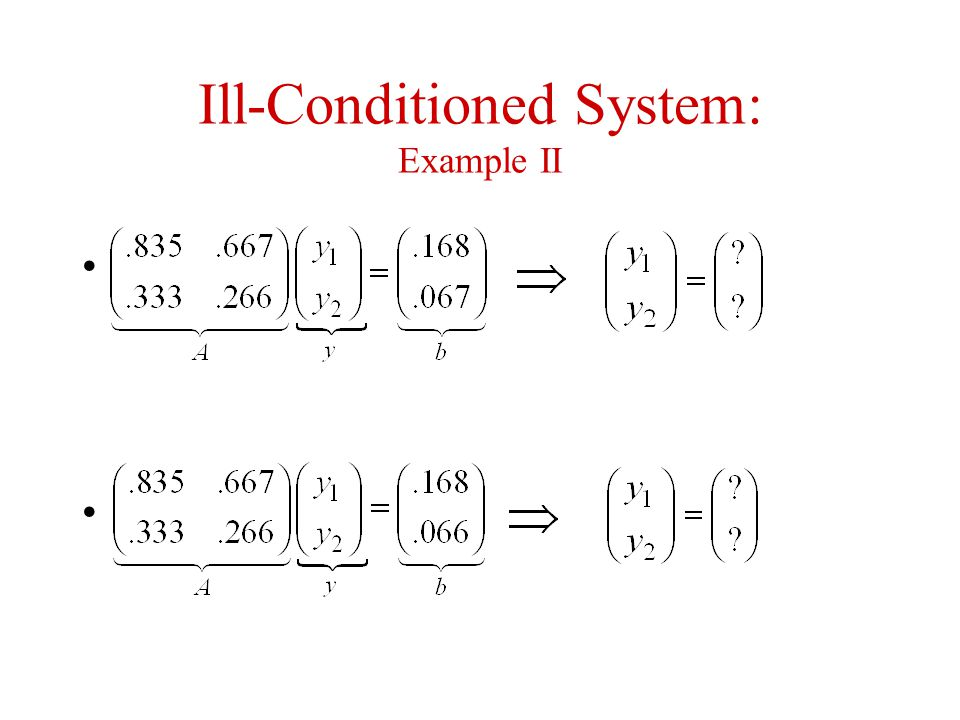 Ill-Conditioned System: Example II