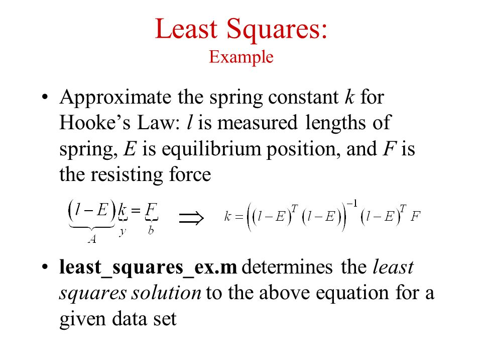 Least Squares: Example