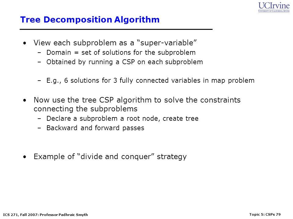 Tree Decomposition Algorithm