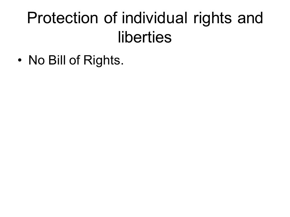 Protection of individual rights and liberties