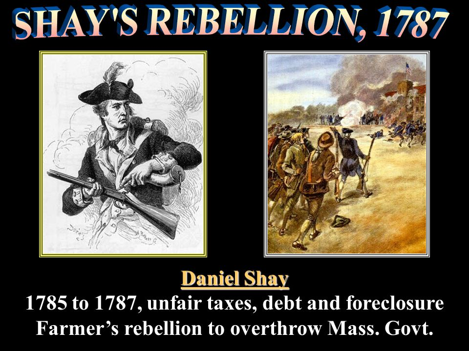 SHAY S REBELLION, 1787 Daniel Shay