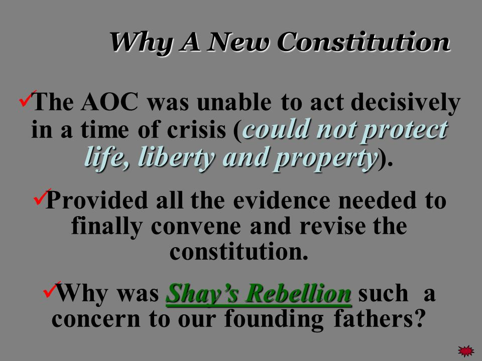 Why was Shay's Rebellion such a concern to our founding fathers