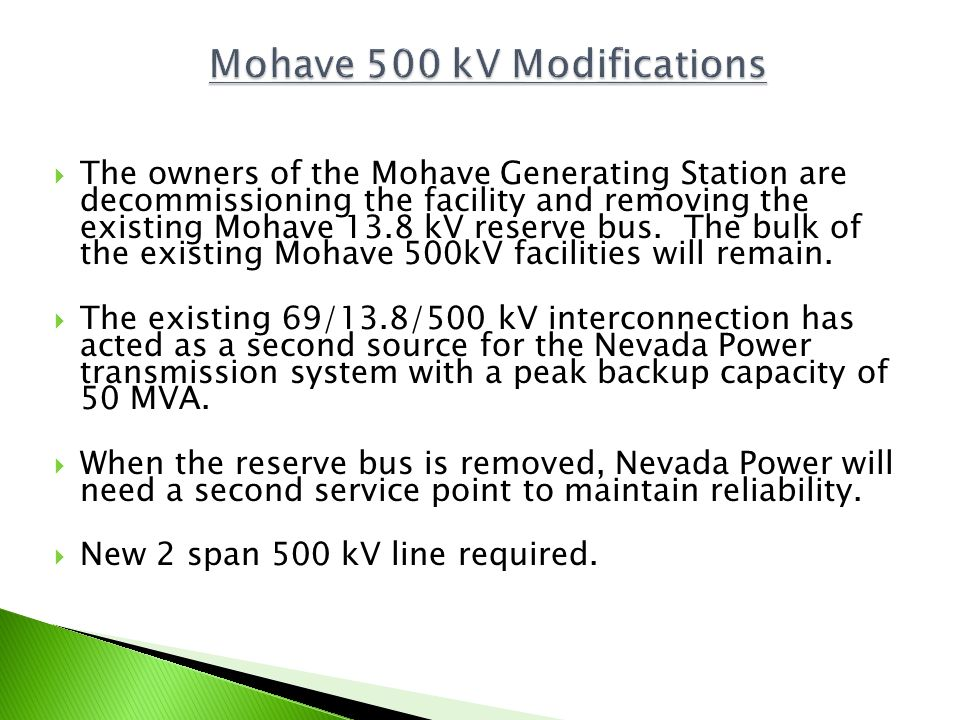 Mohave 500 kV Modifications