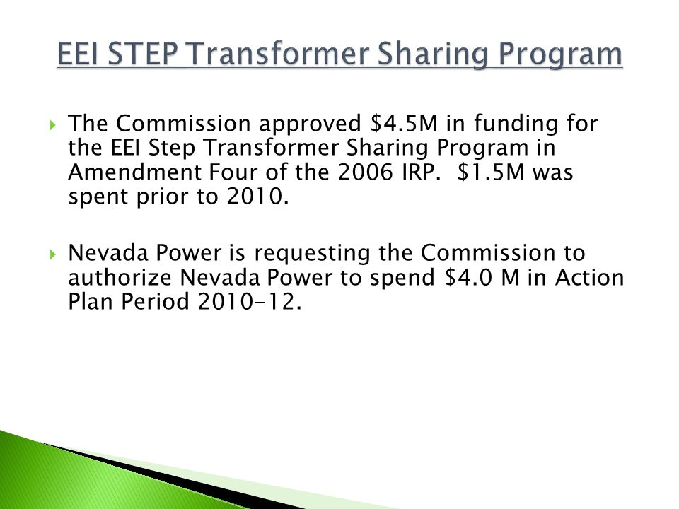 EEI STEP Transformer Sharing Program