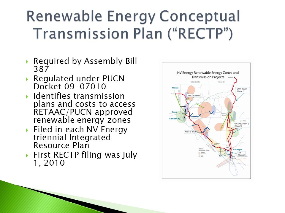 Renewable Energy Conceptual Transmission Plan ( RECTP )