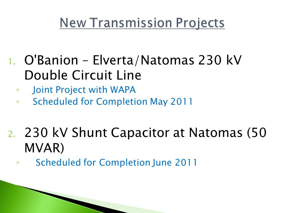 New Transmission Projects