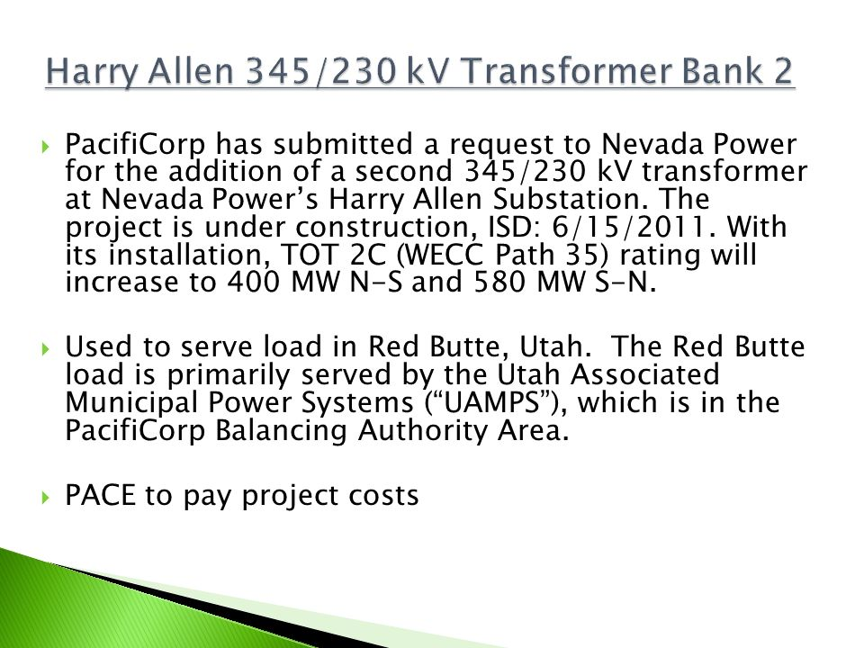 Harry Allen 345/230 kV Transformer Bank 2