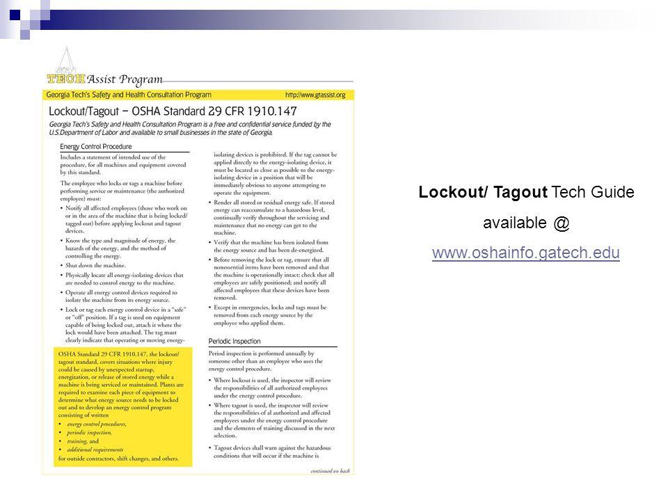 Lockout/ Tagout Tech Guide