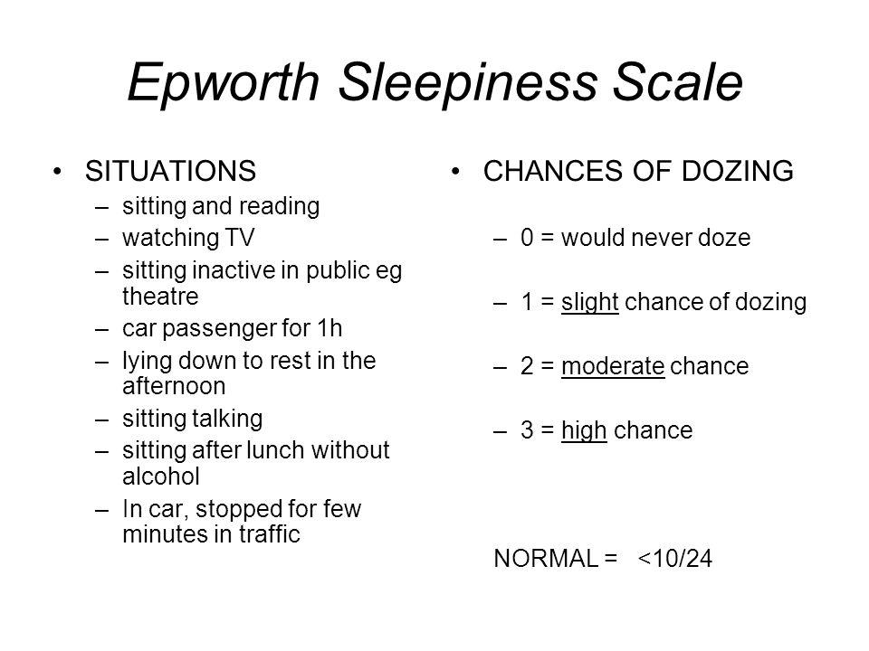 Epworth Sleepiness Scale