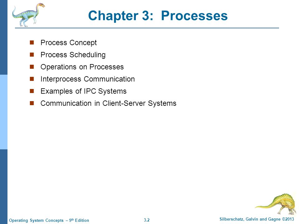 Chapter 3: Processes Process Concept Process Scheduling