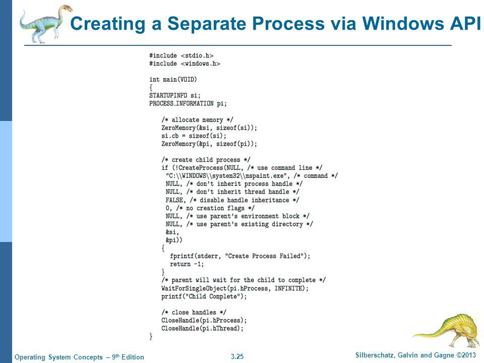 Creating a Separate Process via Windows API