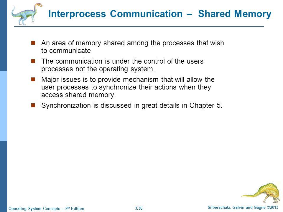 Interprocess Communication – Shared Memory