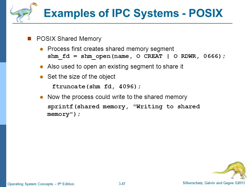 Examples of IPC Systems - POSIX