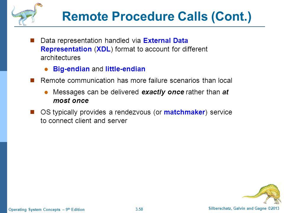 Remote Procedure Calls (Cont.)