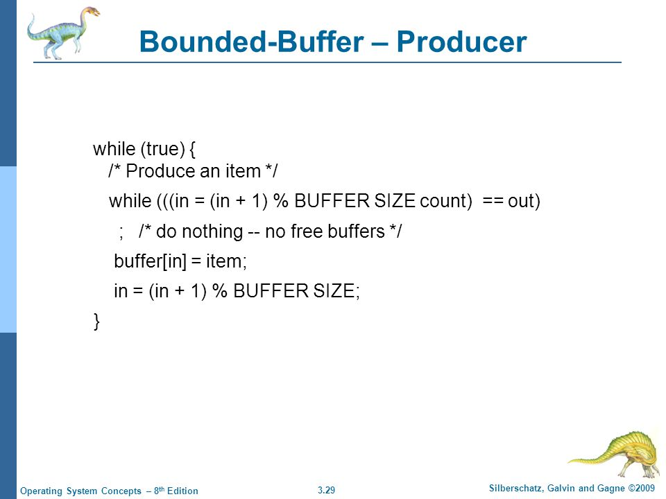 Bounded-Buffer – Producer