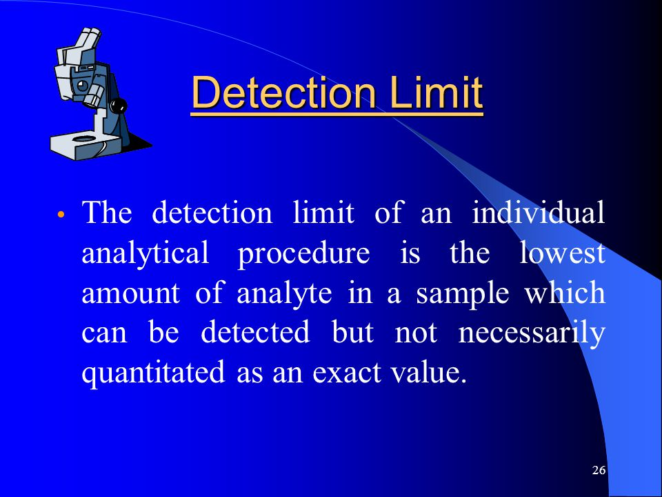Detection Limit