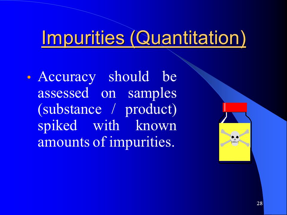 Impurities (Quantitation)